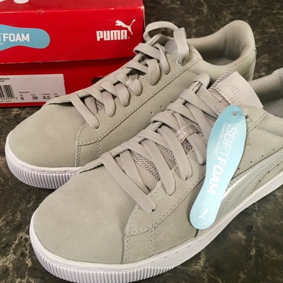 PUMA Womens VIKKY Platform Sneaker Gray Violet 8.5 NWT